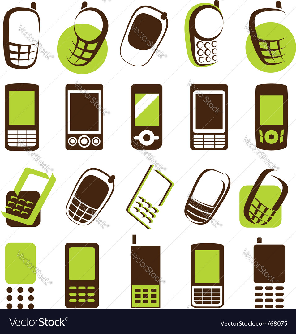 Mobile phones design elements vector