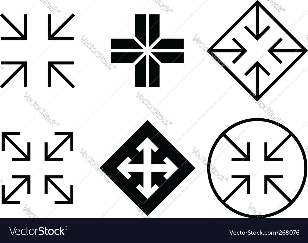 Arrows and crosses set vector
