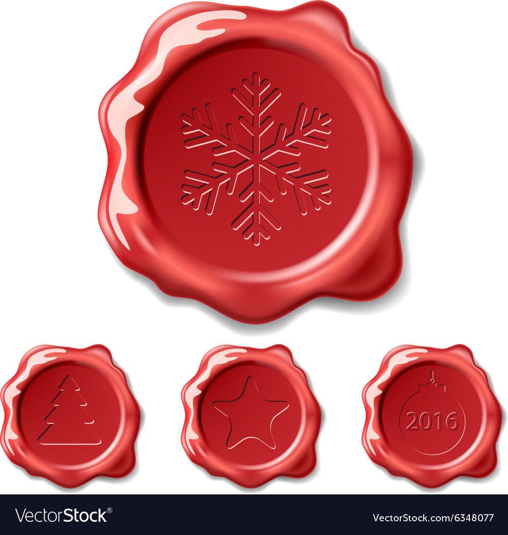 Christmas seal wax vector