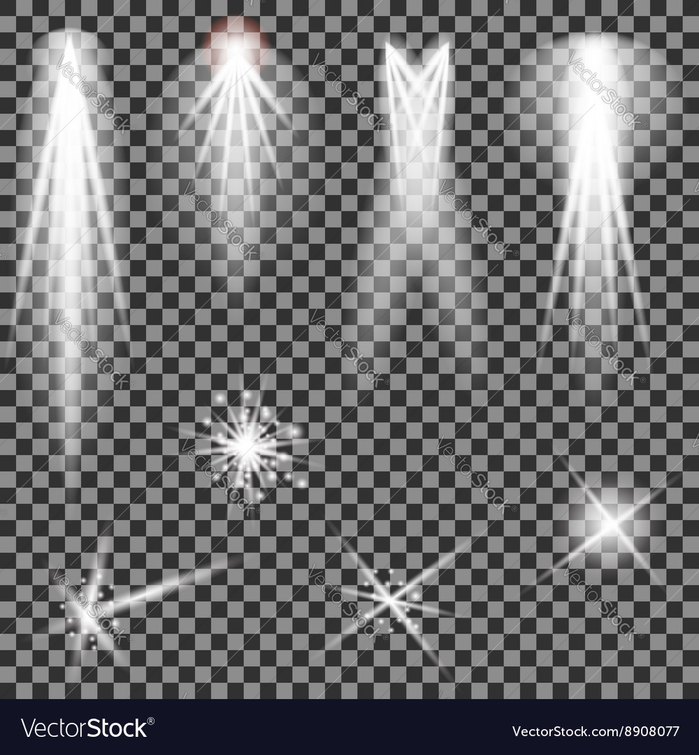 Concert lighting stage spotlights lantern vector