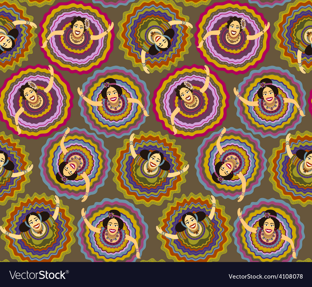 Mexican dancers background vector
