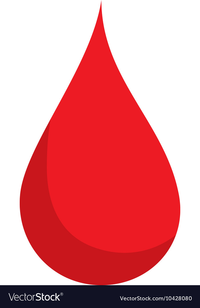 Blood drop red vector