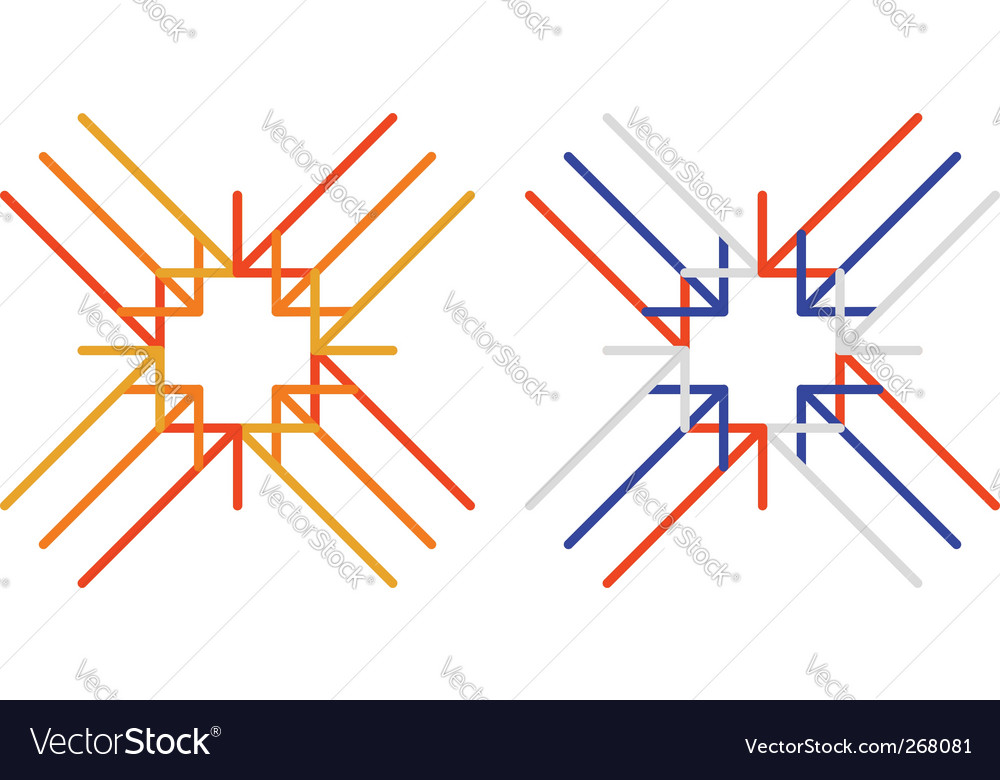 Arrows to cross vector