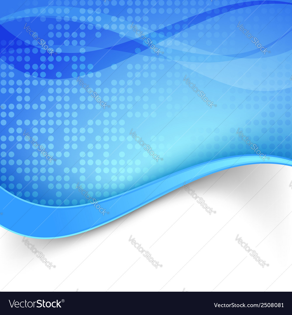 Blue wave border dotted background vector