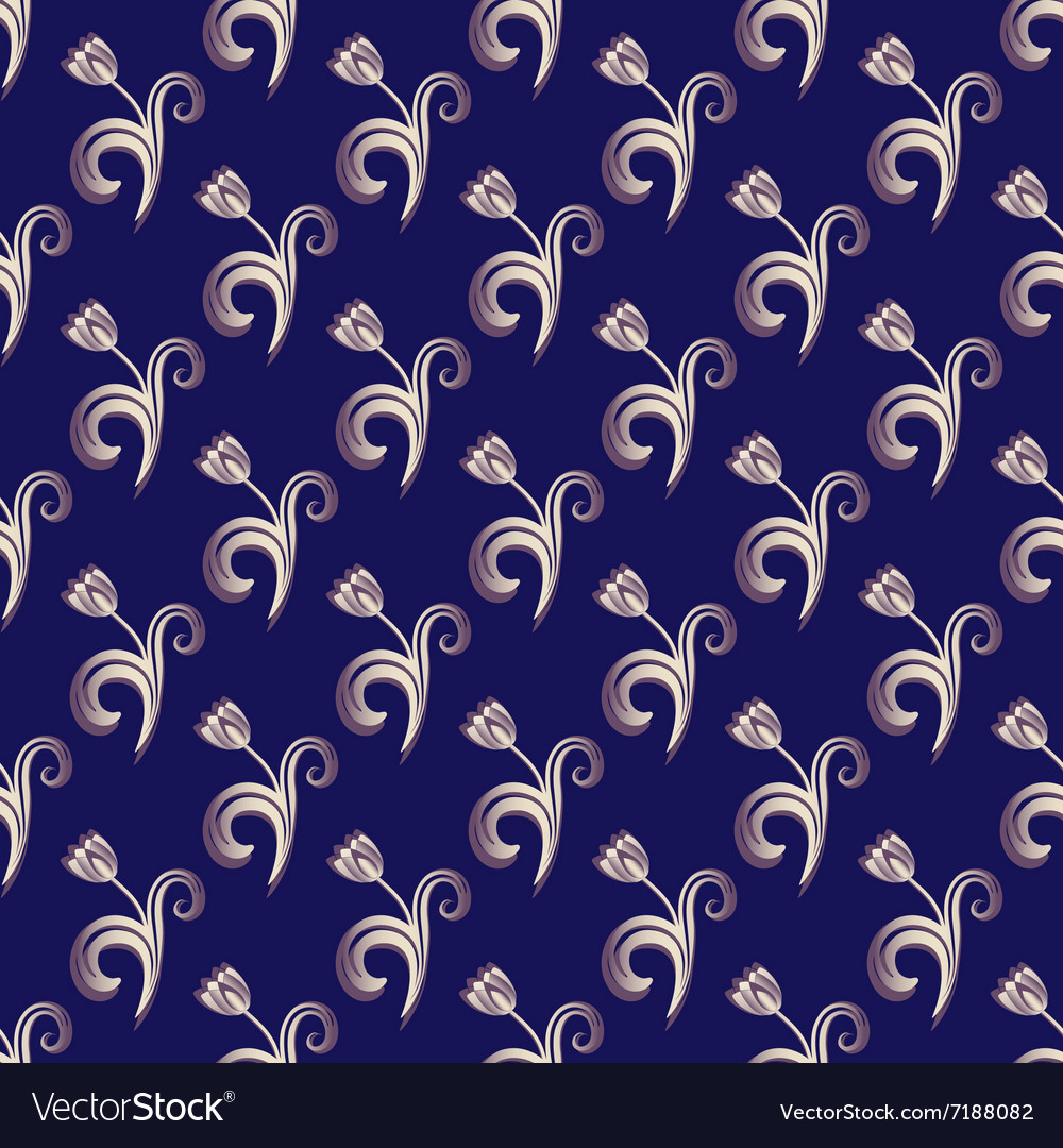 Dark blue seamless pattern vector