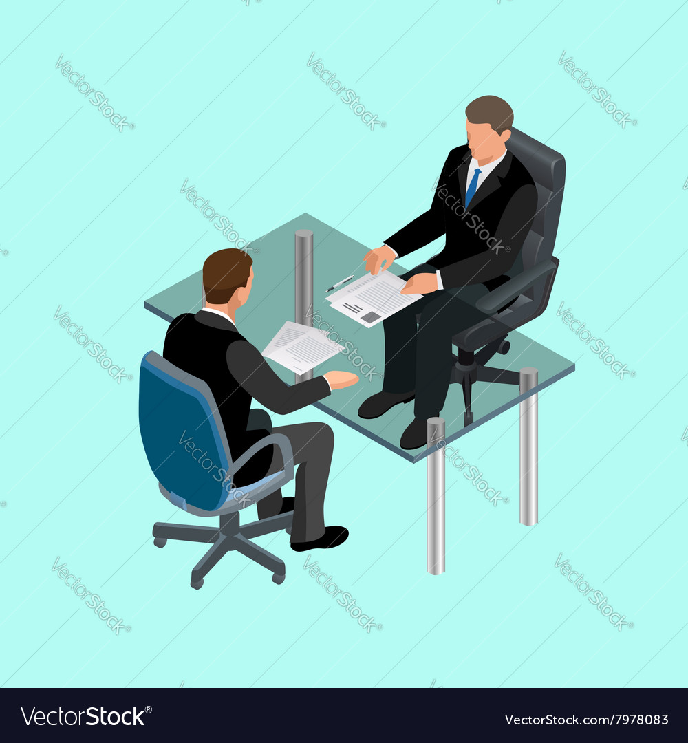 Business people in suit sitting at the table vector