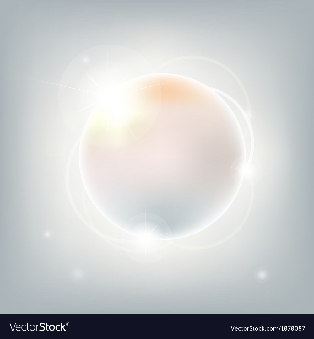 Abstract sphere with stars vector