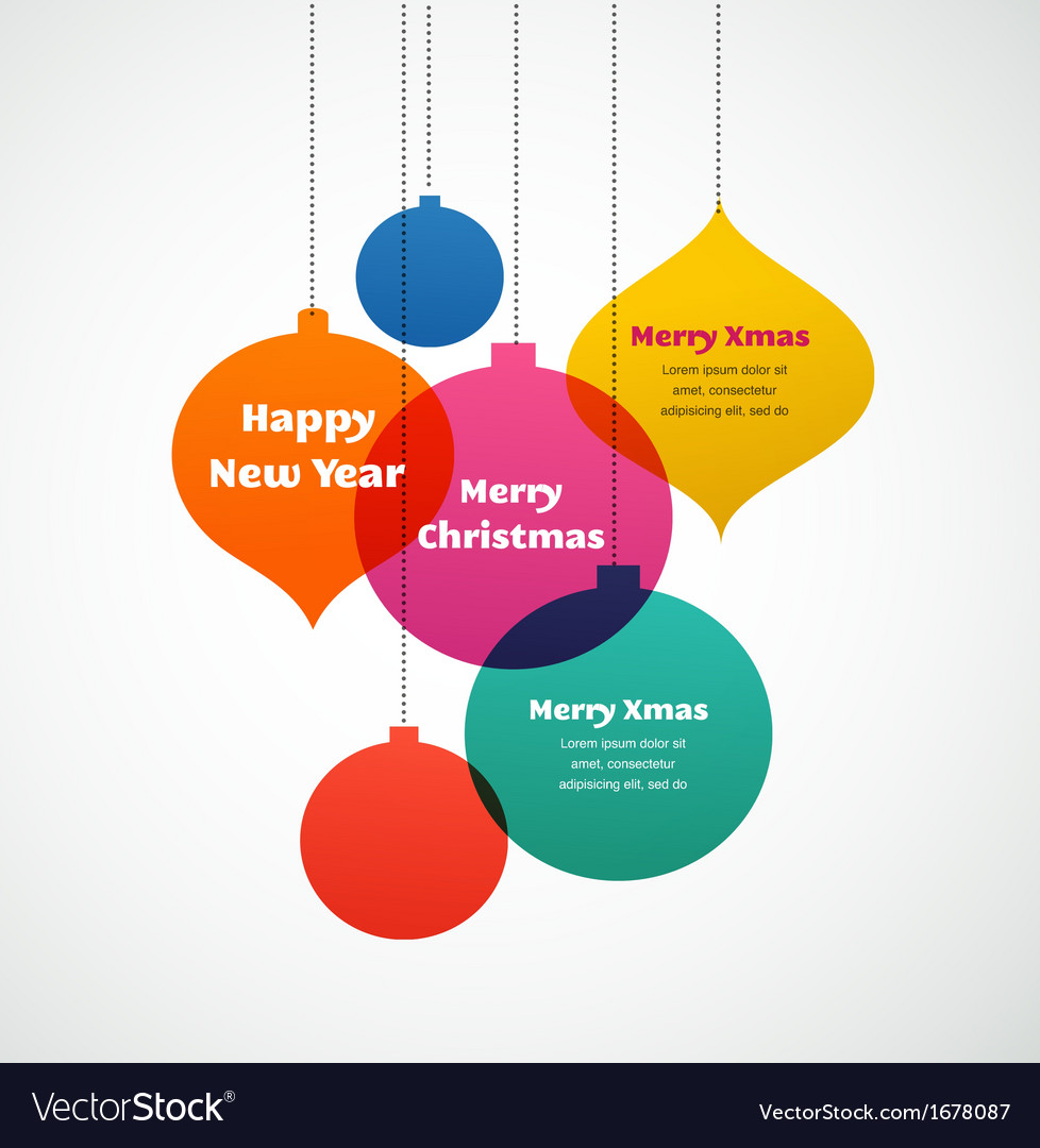 Christmas ornaments  colorful background vector