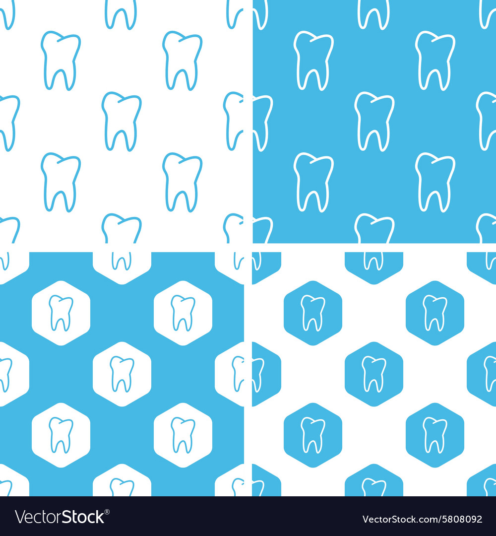 Tooth patterns set vector