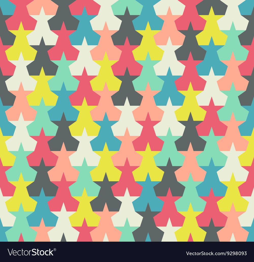 Seamless pattern colorful abstract stars vector