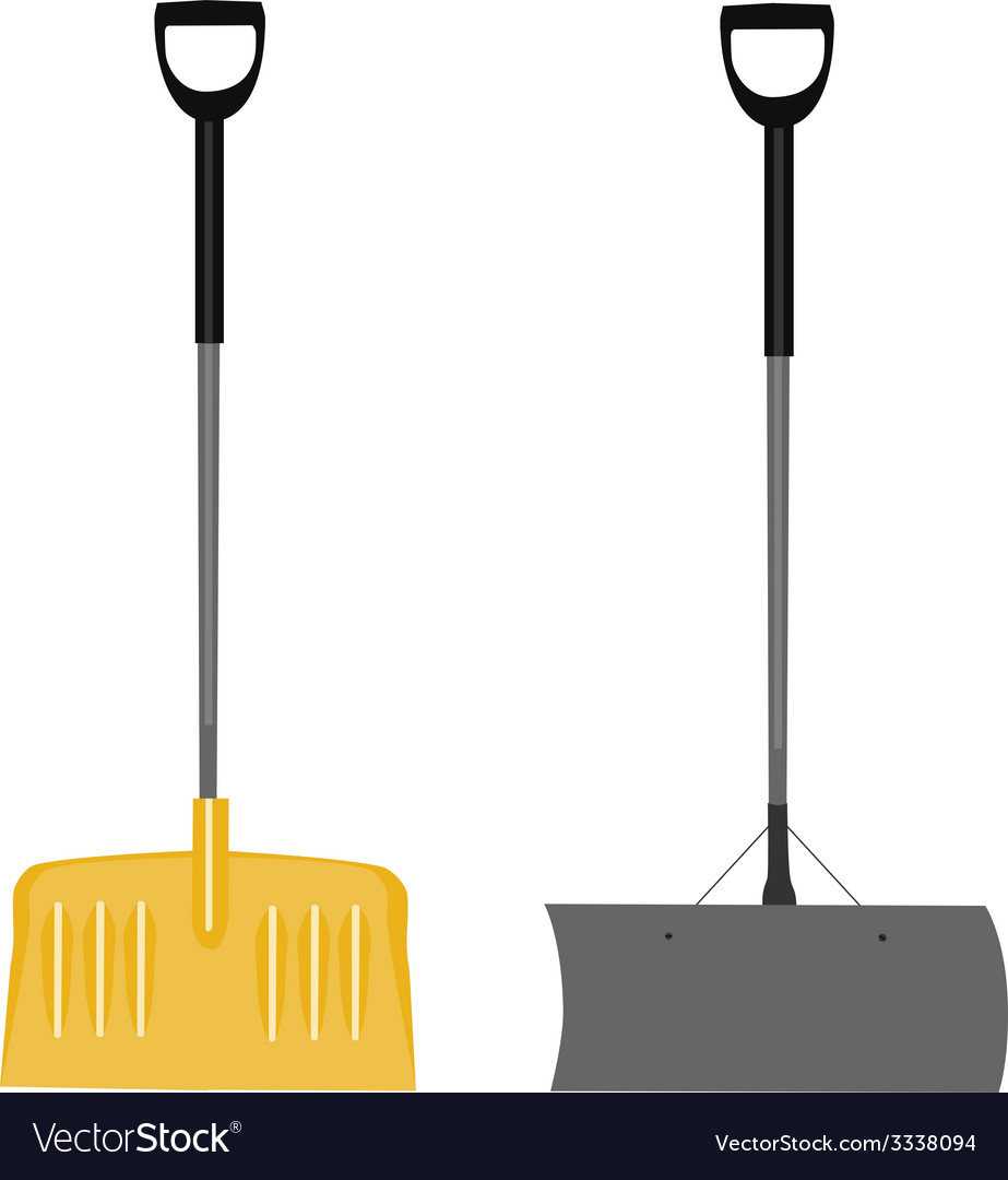 Snow shovels set vector