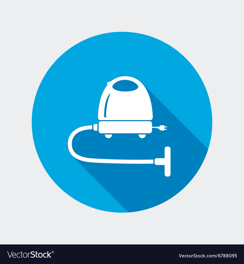 Vacuum cleaner hoover icon home equipment vector