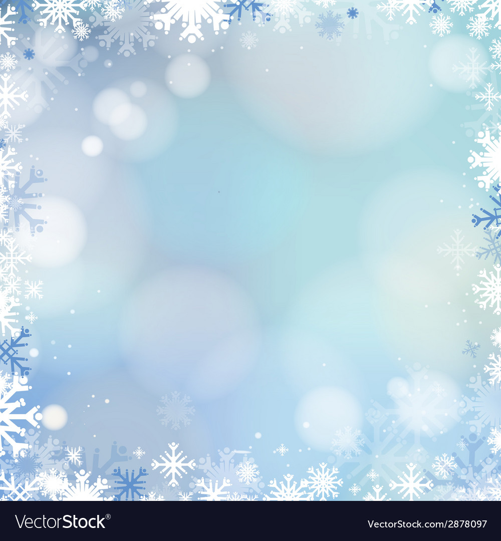 Abstract holiday christmas blue light background vector