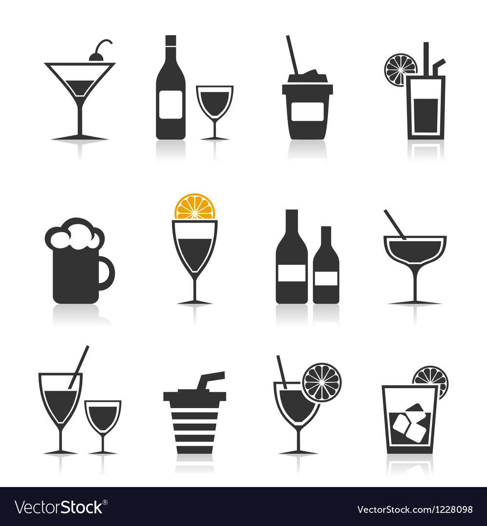 Alcohol an icon vector