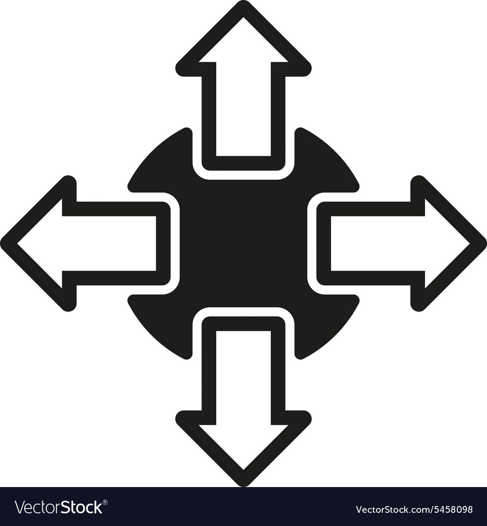Navigation icon arrows symbol flat vector