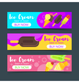 flat style banners with ice cream vector image