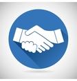 Partnership Symbol Handshake Icon Template vector image