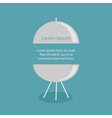 BBQ grill party invitation card template Flat desi vector image