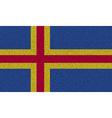Flags Aland on denim texture vector image