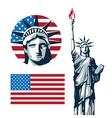 USA design American icon Flat vector image