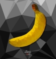 Abstract polygon background with banana vector image