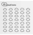 Cloud icons big set vector image