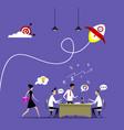 concept of businessman teamwork vector image