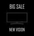contour drawing of the monitor a big sale a new vector image