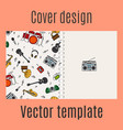cover design with music instrument pattern vector image