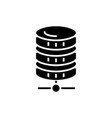 database network icon black vector image