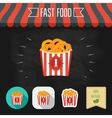 Fried squid rings icons on a chalkboard Set of vector image