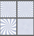 Light purple spiral and ray burst background set vector image