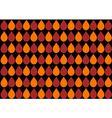 Orange Water Drops Black Background vector image