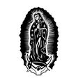 virgin guadalupe vector image