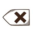 Delete decline rejected symbol vector image