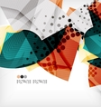 Semicircle geometric abstract background vector image vector image