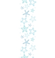 Starfish blue line art vertical seamless pattern vector image vector image