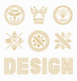 graphic designer badges and logos vector image