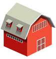Red barn with gray roof vector image