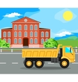 construction machinery and home vector image