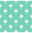 Elegant rich pattern with damask motif vector image