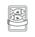 fish restaurant emblem icon vector image