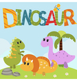 funny dinosaurs vector image