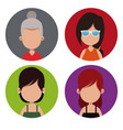 group female people different vector image