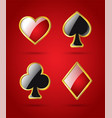 poker card suits - modern isolated clip art vector image