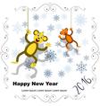 postcard 2 monkey 2016 vector image