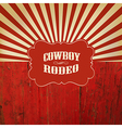 Rodeo retro background vector image