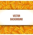 Banner design with square white paper frame vector image vector image