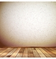Interior with wooden floor and wall EPS 10 vector image vector image