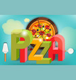 pizza food menu vector image vector image